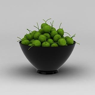 青色水果3d模型