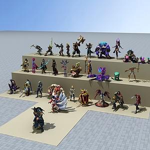 3dLOL游戏人物模型