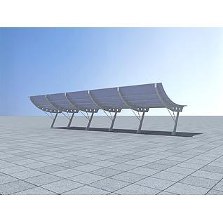 遮阳棚3d模型