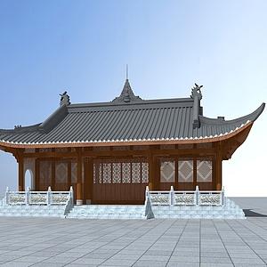 中國古代寺廟模型3d模型