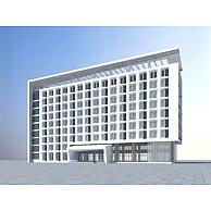 现代高级酒店大楼3D模型3d模型