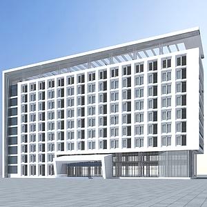 3d现代高级酒店<font class='myIsRed'>大楼</font>模型