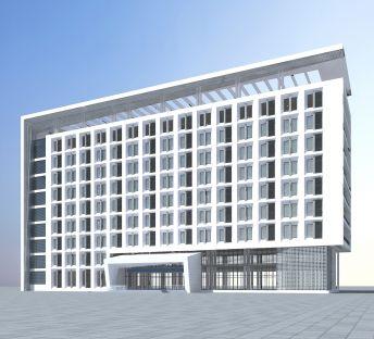 现代高级酒店大楼