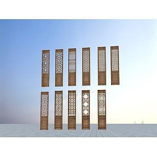 古建木门3d模型