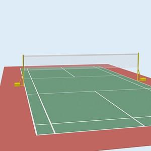羽毛球场地模型