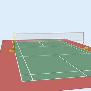 羽毛球场地3d模型