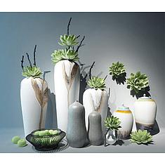 新中式陶瓷花艺器皿3D模型3d模型