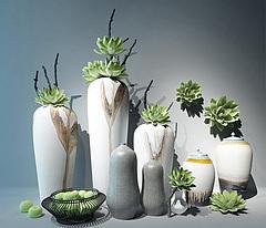 新中式陶瓷花艺器皿模型3d模型