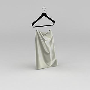 女士吊带3d模型
