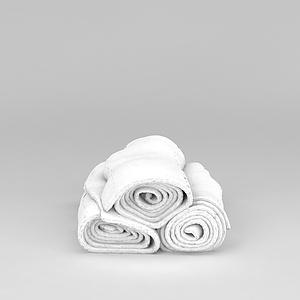 浴室毛巾模型