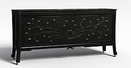 简约实木边柜3d模型