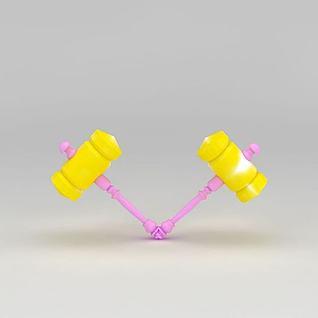 玩具锤子3d模型