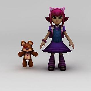 lol安妮游戏人物3d模型