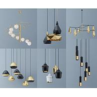 现代创意餐厅吊灯组合3D模型3d模型