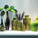 中式植物花艺器皿组合模型