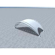 户外膜结构车棚3D模型3d模型