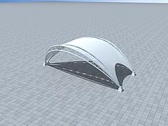 户外膜结构车棚模型3d模型