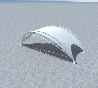 户外膜结构车棚