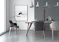 时尚北欧餐桌椅餐厅吊灯3D模型3d模型