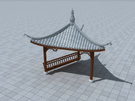 三角亭3d模型