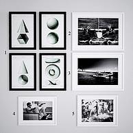 黑白多图相框组合照片墙3D模型3d模型