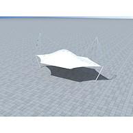 张拉膜3D模型3d模型