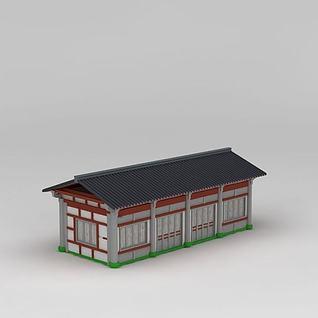 古建厢房3d模型