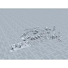 常用雕塑集合3D模型3d模型