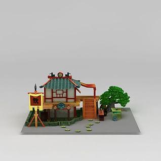 铁匠铺游戏场景3d模型