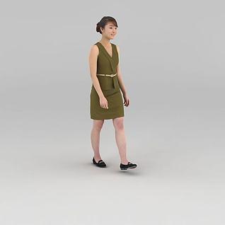 女店员3d模型