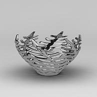 创意鱼骨花瓶3D模型3d模型