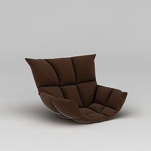 3d咖啡色<font class='myIsRed'>懶人沙發</font>模型