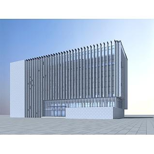 现代办公大楼3d模型