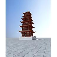 唐代佛塔3D模型3d模型