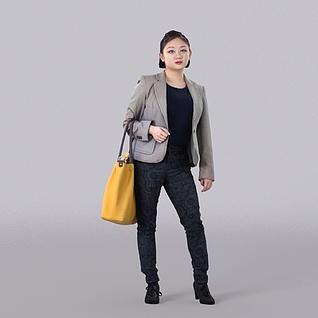购物女人3d模型