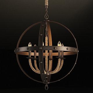 古典城堡吊灯3d模型
