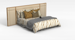 现代双人床模型3d模型