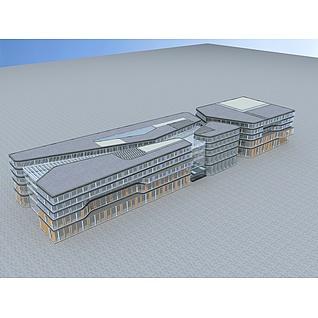 大型商场3d模型