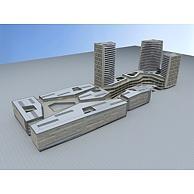 城市商业综合体3D模型3d模型