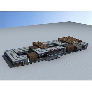 家居广场大楼3d模型
