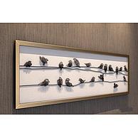 现代立体钉子鸟装饰挂画3D模型3d模型