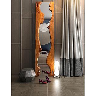 现代创意穿衣镜3d模型