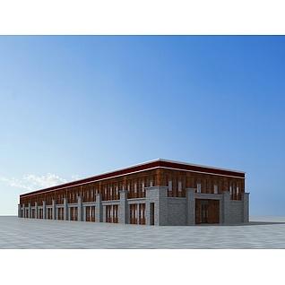 藏式商业楼3d模型