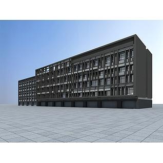 沿街住宅楼3d模型