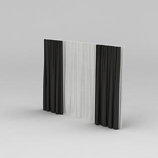 遮阳窗帘3d模型