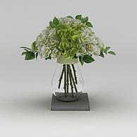 室内装饰花卉花瓶3D模型3d模型
