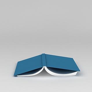 倒扣的书3d模型3d模型