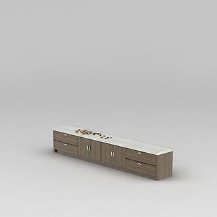 客厅时尚电视柜3d模型3d模型