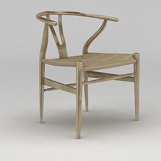 现代实木圈椅3d模型3d模型