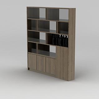 实木酒柜3d模型3d模型